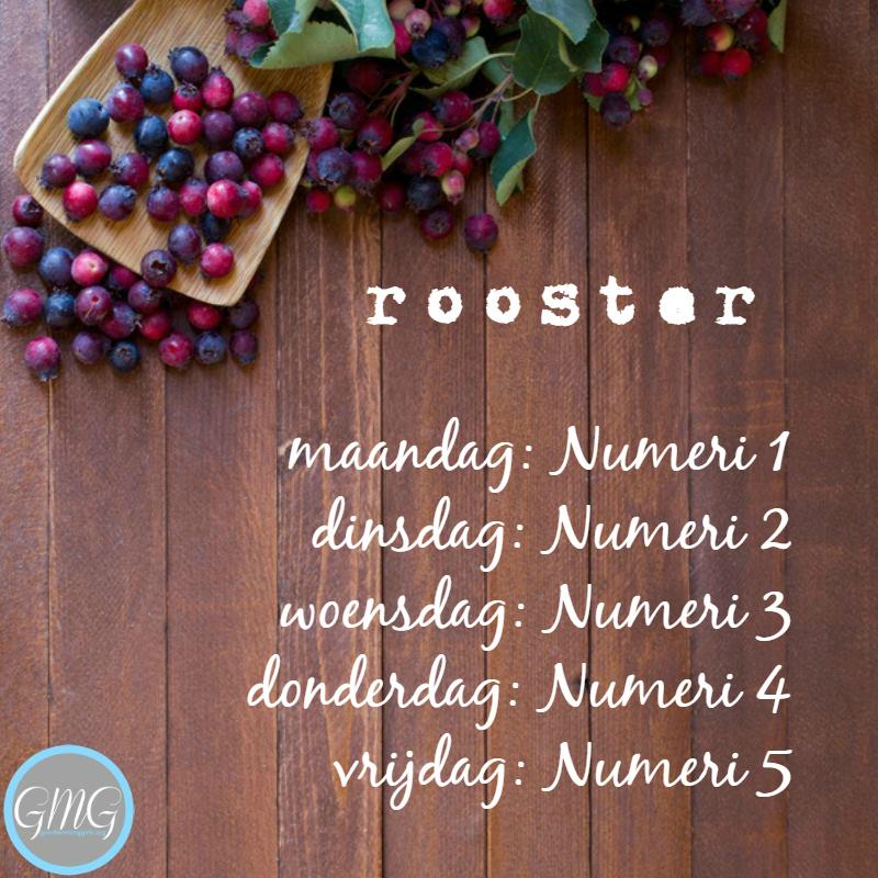 rooster Numeri 1 - 5