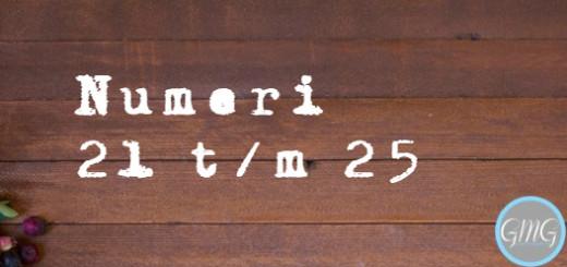 Numeri 21 - 25