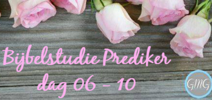 Bijbelstudie Prediker week 2, dag 6-10, Good Morning Girls
