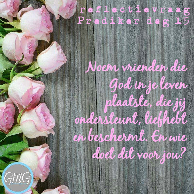 reflectievraag Bijbelstudie Prediker dag 15, Good Morning Girls