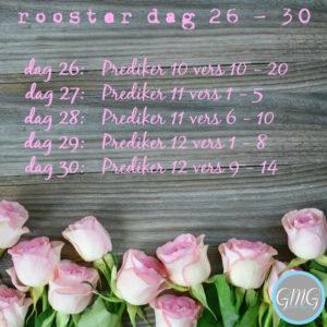 leesrooster Prediker dag 26-30