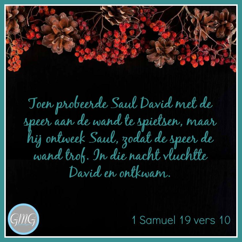 dagtekst 1 Samuel dag 19