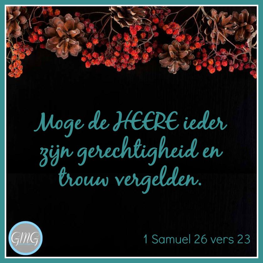 dagtekst 1 Samuel dag 26