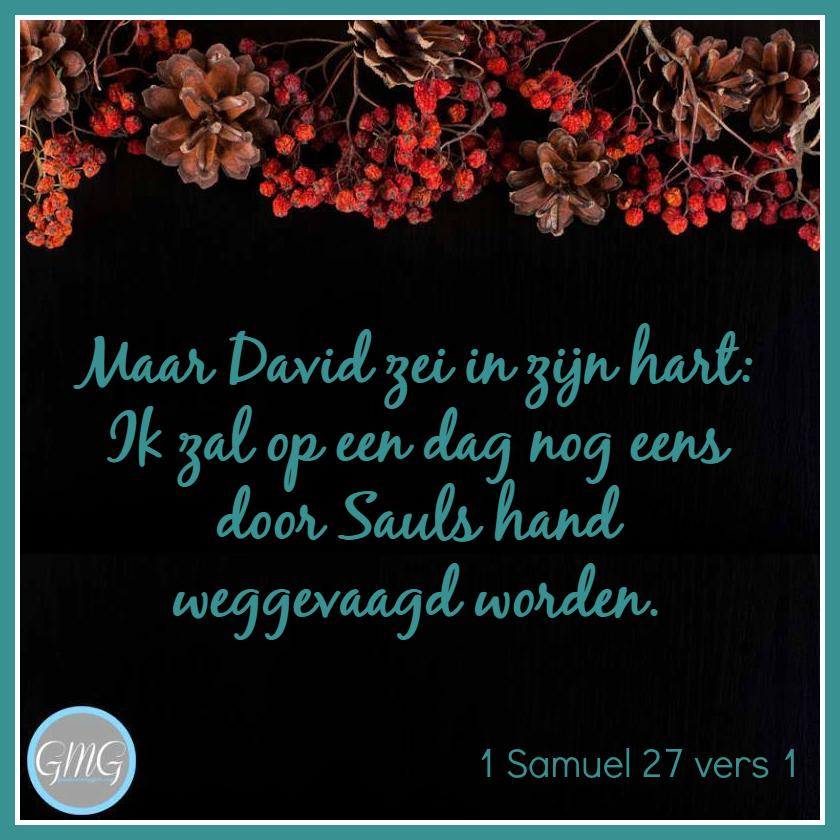 dagtekst 1 Samuel dag 27