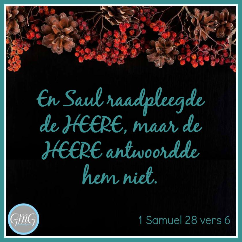 dagtekst 1 Samuel dag 28