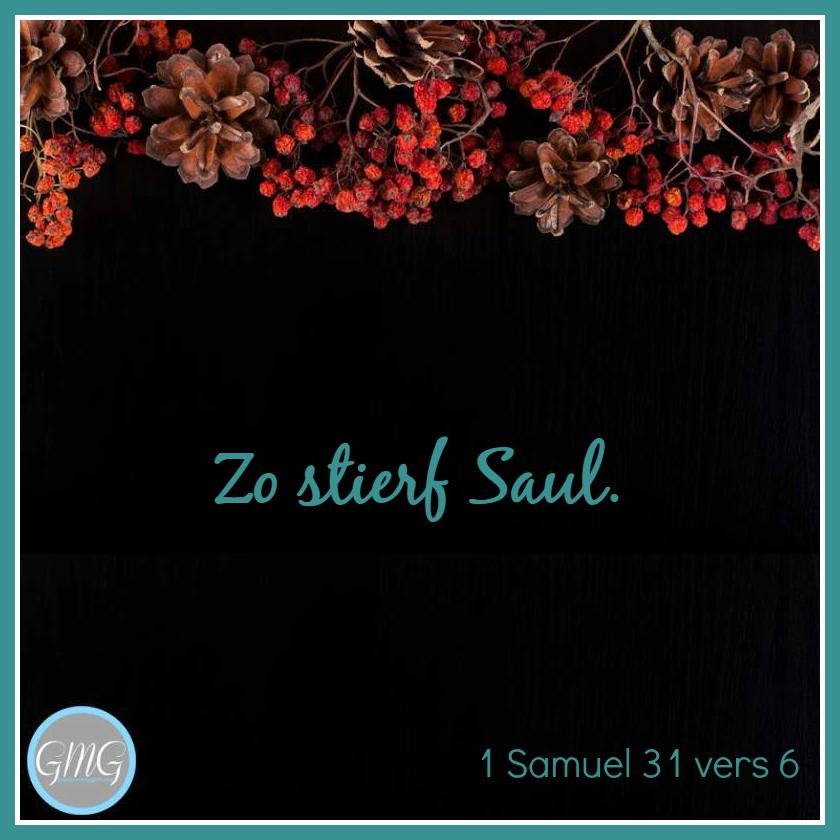 dagtekst 1 Samuel dag 31