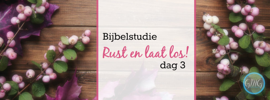 Rust en laat los dag 3, bijbelstudie, good morning girls