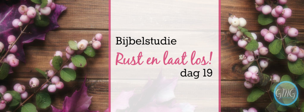 Bijbelstudie Rust en laat los dag 19, Good Morning Girls