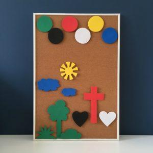 kleur bekennen, Sestra, kleurenlied, Bijbelidee