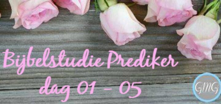 Bijbelstudie Prediker, Good Morning Girls, materialen, Bijbelstudiemateriaal